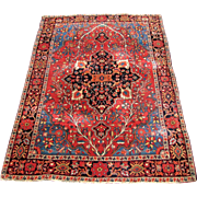 Superb Antique Persian Sarough Farahan Rug  rr3354