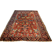 Superb Antique Persian Heriz Hand Made Oriental Rug  rr514