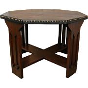 Antique Michigan Chair Company Game Table   w1067