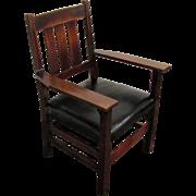 Antique Gustav Stickley Large Arm Chair  w1208