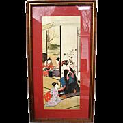 Vintage Framed Japanese Print  w1391_1