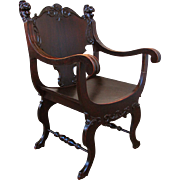 Antique Arts & Crafts Armchair  w1522