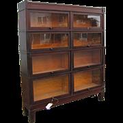 Antique Wide Barrister Bookcase (Rare Size)  w1629