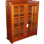 Rare Small Size Gustav Stickley Bookcase  w1825