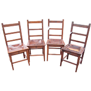 Set of 4 to 8 Antique Roycroft Chairs  w1966