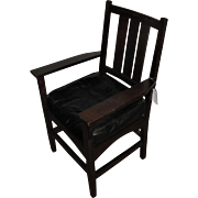 Antique Gustav Stickley Arm Chair  w2259