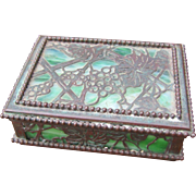 "Antique ""Tiffany"" Covered Box   w2329"