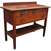 Antique Gustav Stickley Large Serving Table  w2375