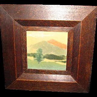 Antique Marblehead Framed Tile  w2515
