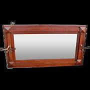 Antique Superb Mission Arts & Crafts Wall Mirror  w2707