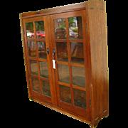 Antique Gustav Stickley Two Door Bookcase  w2719