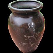 """Antique """"Heintz"""" Bronze & Silver Vase   w2954"""
