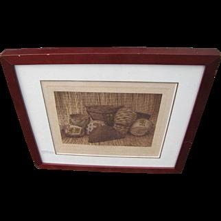 "Edward Curtis Print ""Skokomish Baskets""  w3029"