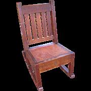 Superb Antique Roycroft Rocking Chair  w3124
