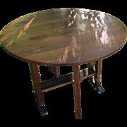 Antique L&jG Stickley Drop Leaf Table  w3127