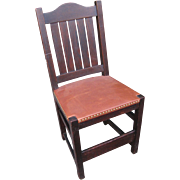 "Antique ""L&jG STICKLEY"" Early Dining Chair MISSION Oak w3132"