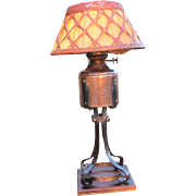 Rare Gustav Stickley Table Lamp  w3150