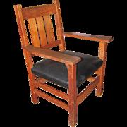 """Antique """"Gustav Stickley"""" Arm Chair w3176"""