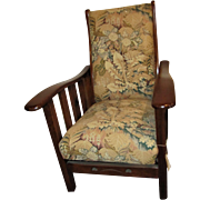 Vintage Reclining Chair with Cutouts  w346