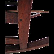 Antique Gustav Stickley Spindle Arm Rocking Chair  w3916