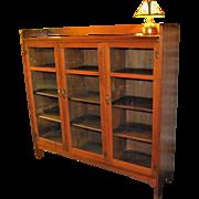 Great Antique Limbert 3 Door Bookcase  w4041