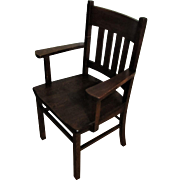 Antique Arts & Crafts Arm Chair  w4154