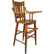 Antique Arts & Crafts High Chair  w416