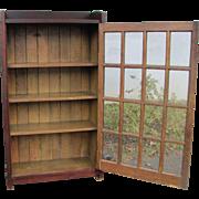 Superb Early Gustav Stickley One Door Bookcase  w4233