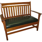 Antique Stickley Brothers Settee  w4245