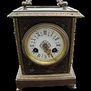 Antique Brass Decorated Clock  w4289