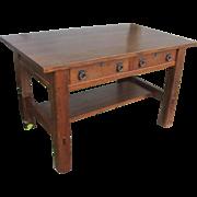 """SUPERB Antique """"Lifetime"""" Library Table/ Desk  w4369"""