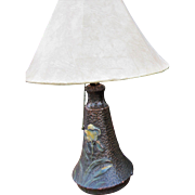 Fantastic Antique Arts & Crafts Weller Art Pottery Table Lamp  w4393