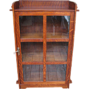 Antique Lifetime One Door Bookcase  w4461