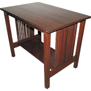 Antique Gustav Stickley Spindle Table  w4948