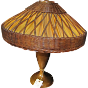 "Antique ""Gustav Stickley"" Table Lamp    w4957"