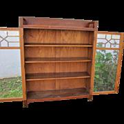 Antique Mark Larkin Arts & Crafts Two Door Bookcase  w5018