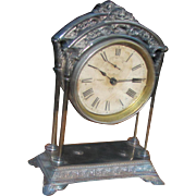 "Antique American ""Ansonia"" Table Clock Circa 1875  w5028"
