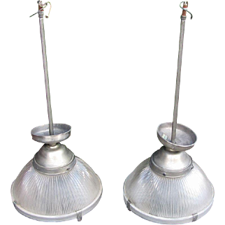 Set of 3 Vintage Industrial Lights  w5112