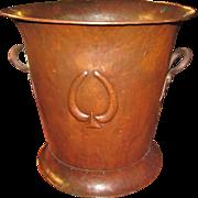 Antique Gustav Stickley Hammered Copper Wine Cooler  w5167