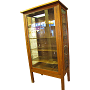 Antique (Lifetime) One Door China Cabinet  w99
