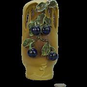 Art Nouveau Teplitz Amphora Grape and Vine Vase