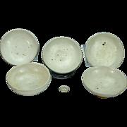 Ben Owen II Senior SR Master Potter NC North Carolina Bowls Chinese White Glaze