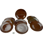 Nine Ben Owen Master Potter Dirt Dish Bread or Cake Plates