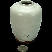 Ben Owen Senior SR Master Potter NC North Carolina Chinese White Glaze Egg Vase