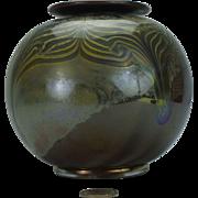 Peter VanderLaan Art Glass Pulled Feather Vase