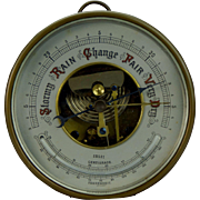 Prewar German Aneroid Barometer Thermometer Combination