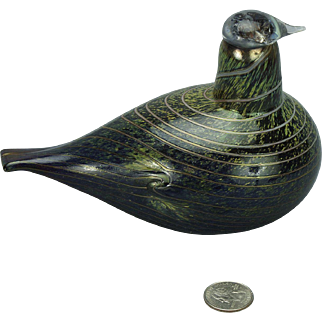 Iittala Finland Oiva Toikka Art Glass Bird Sculpture Nuutajarvi Hand Made