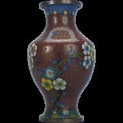 Cloisonne Vase Floral Design Multi-Color