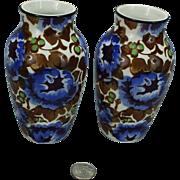 Pair Villeroy Bosh Vera Saar Basin Wallerfangen vases