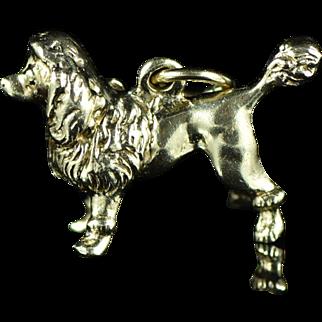 Vintage 10K 3D Poodle Charm Yellow Gold